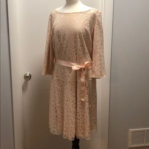 Sparkly and Understated 3/4 length sleeve dress